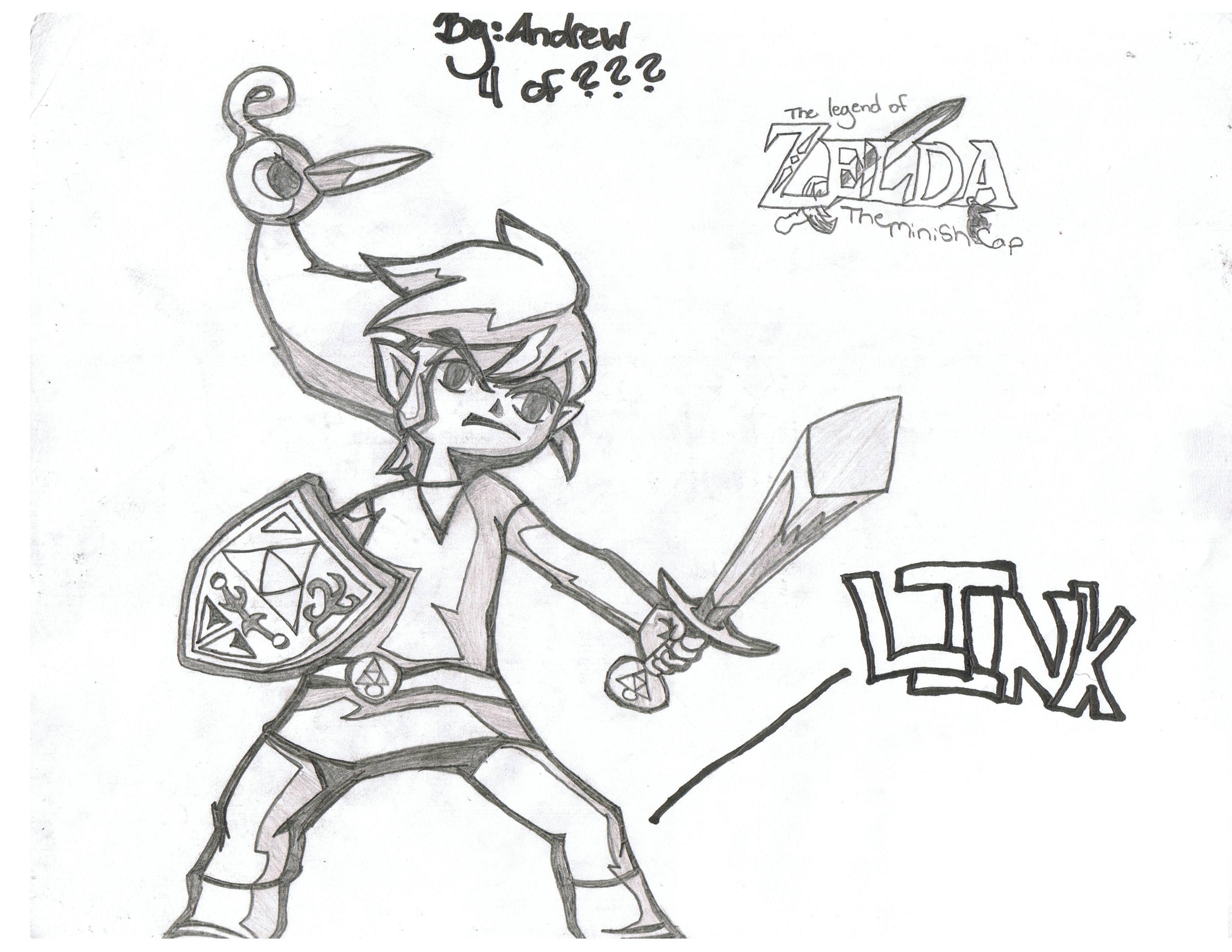 LINK AND THE MINISH CAP by kh2_SORA_kidd63