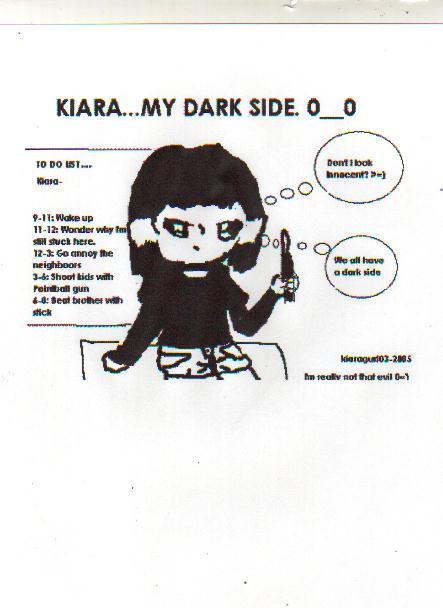 My dark side...Kiara. by kiaragurl03