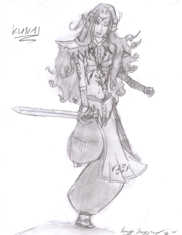 my zelda charakter/ kunai by kichiko_asakura