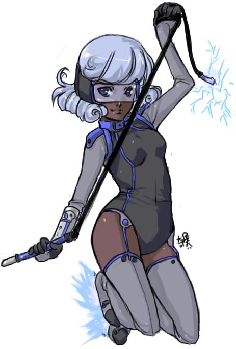 Fighter Girl BLUE by kiitaro