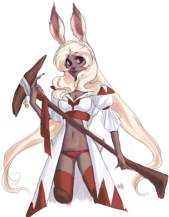 mimi. white mage by kiitaro