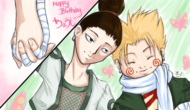Best friends, Chouji and Shikamaru by kiitaro