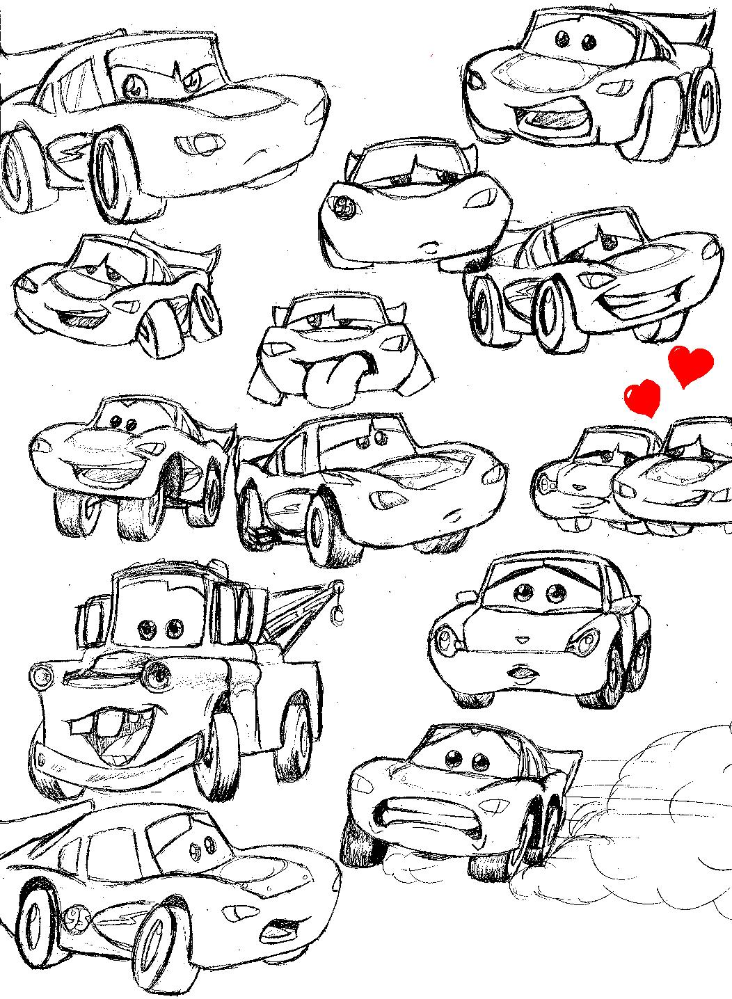 Cars Doodles by killerbankotsu