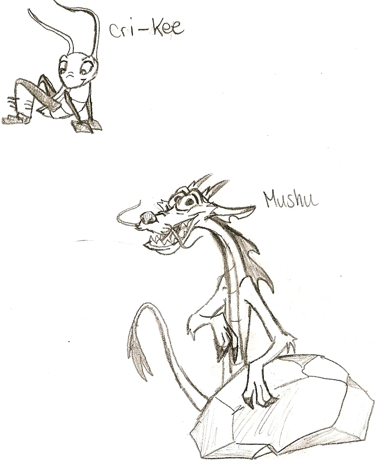 Mushu n Cri-Kee by killerrabbit05