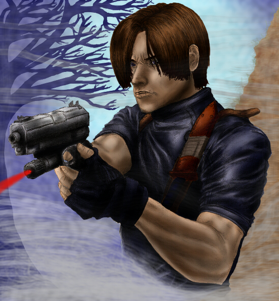 Paint Practice: Leon Kennedy by killerrabbit05