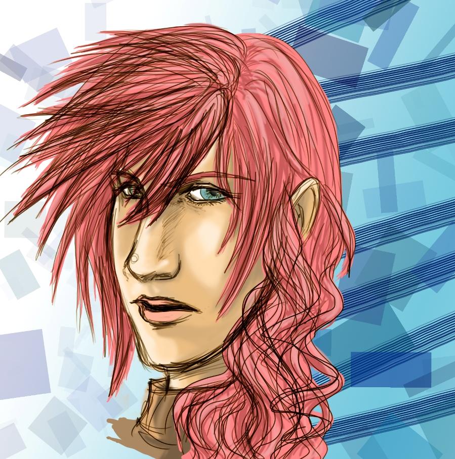 Lightning Head Sketch by killerrabbit05