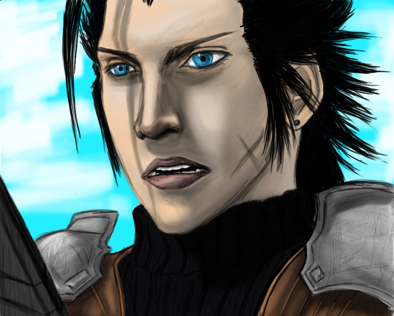 Practice Paint: Zack Fair by killerrabbit05