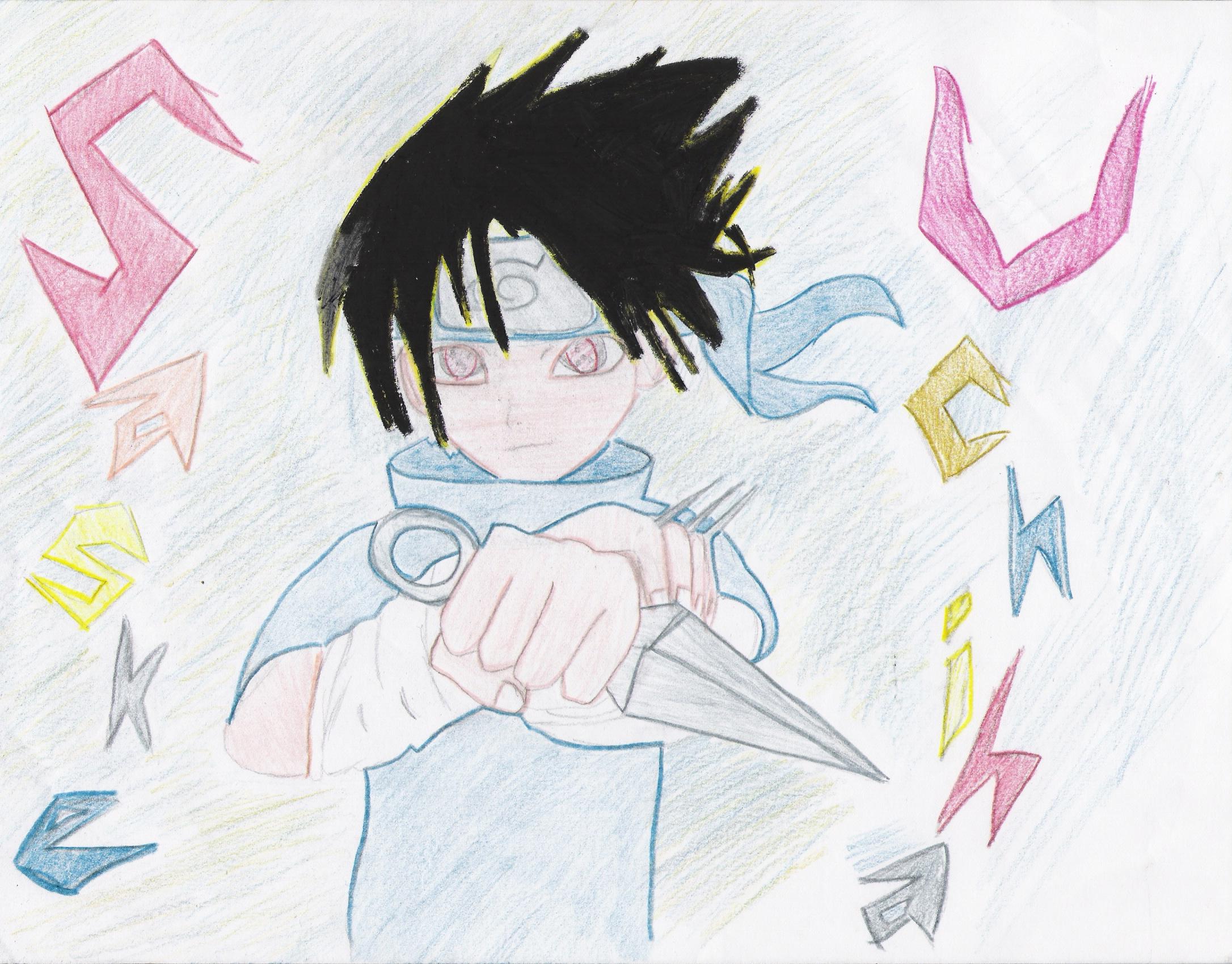 sasuke uchiha by kingupmysleeve