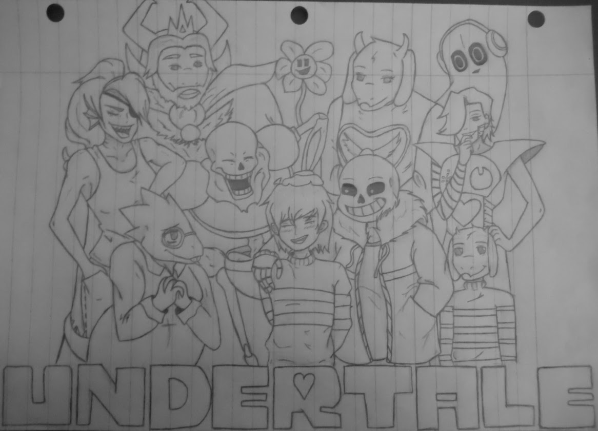 Undertale Characters by kitsunebi