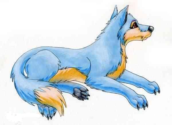blue wolf by kittycatfariy827