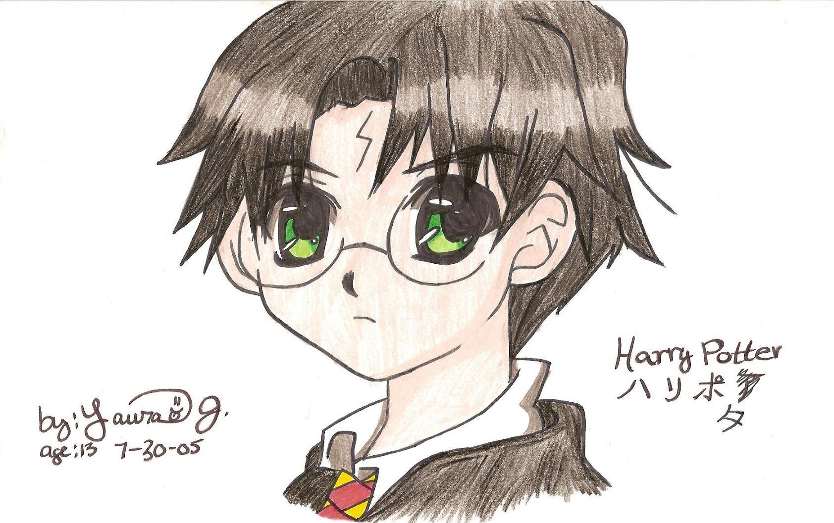 Anime Harry Potter by kittysan5