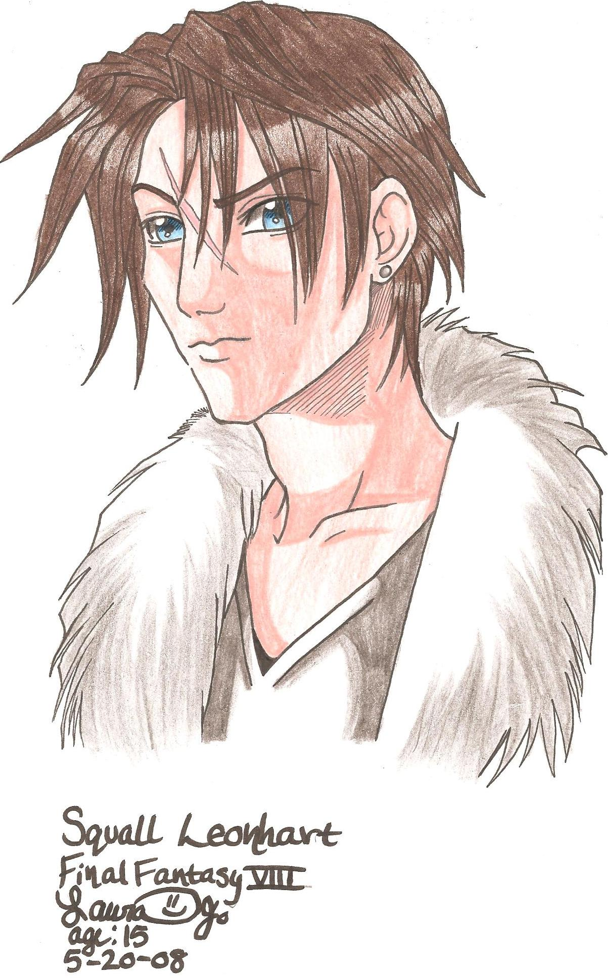 Squall headshot by kittysan5