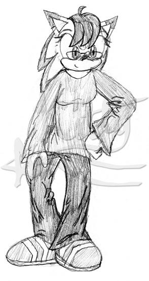 Sketch- Kitty the hedgehog 1 by kittyshootingstar