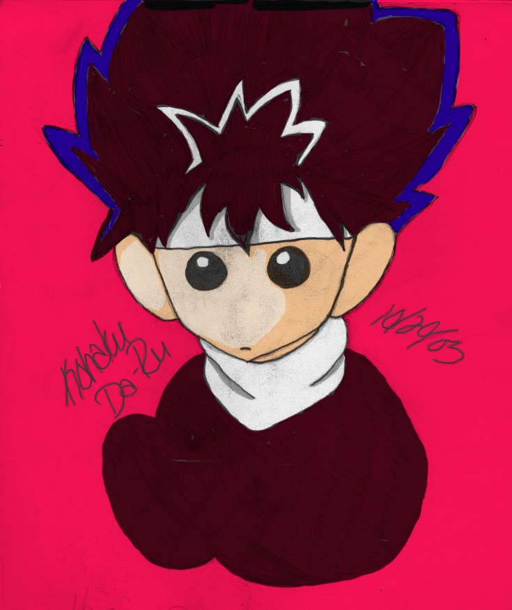 Plushie Hiei Colored by kohaku_theblackwolf