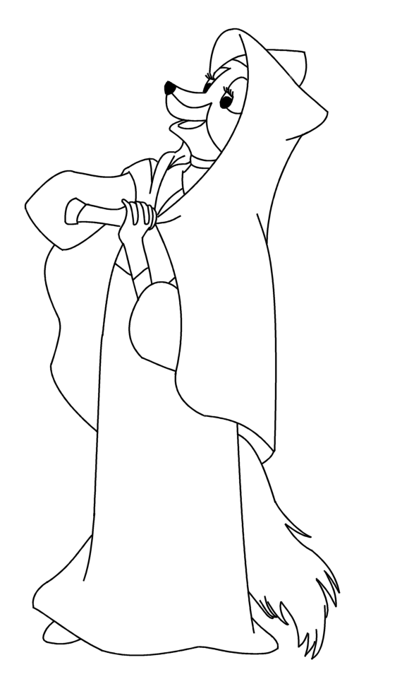robin hood fox coloring pages - photo#14