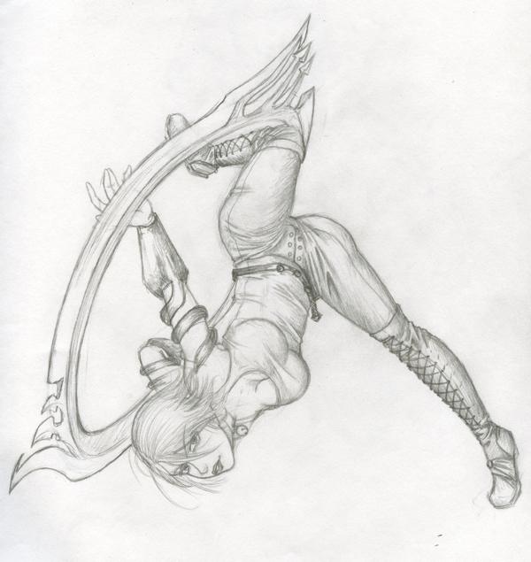 Aiselne Drossel sketch by kurisu_yoi