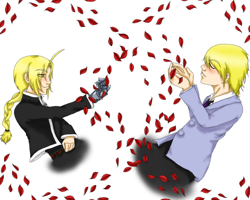 Edward and Tamaki by kylaVegeta