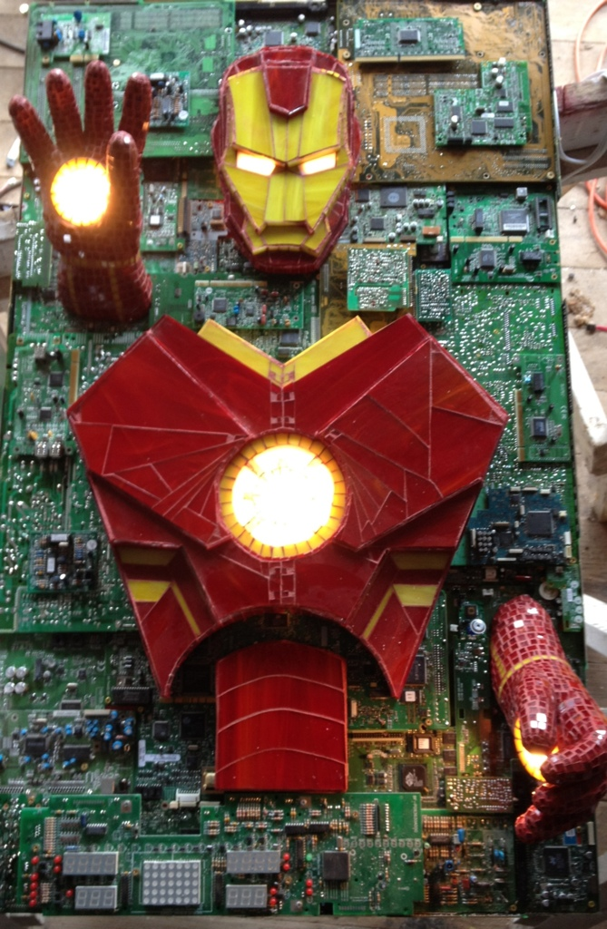Iron Man Mixed Media by kymedicineman