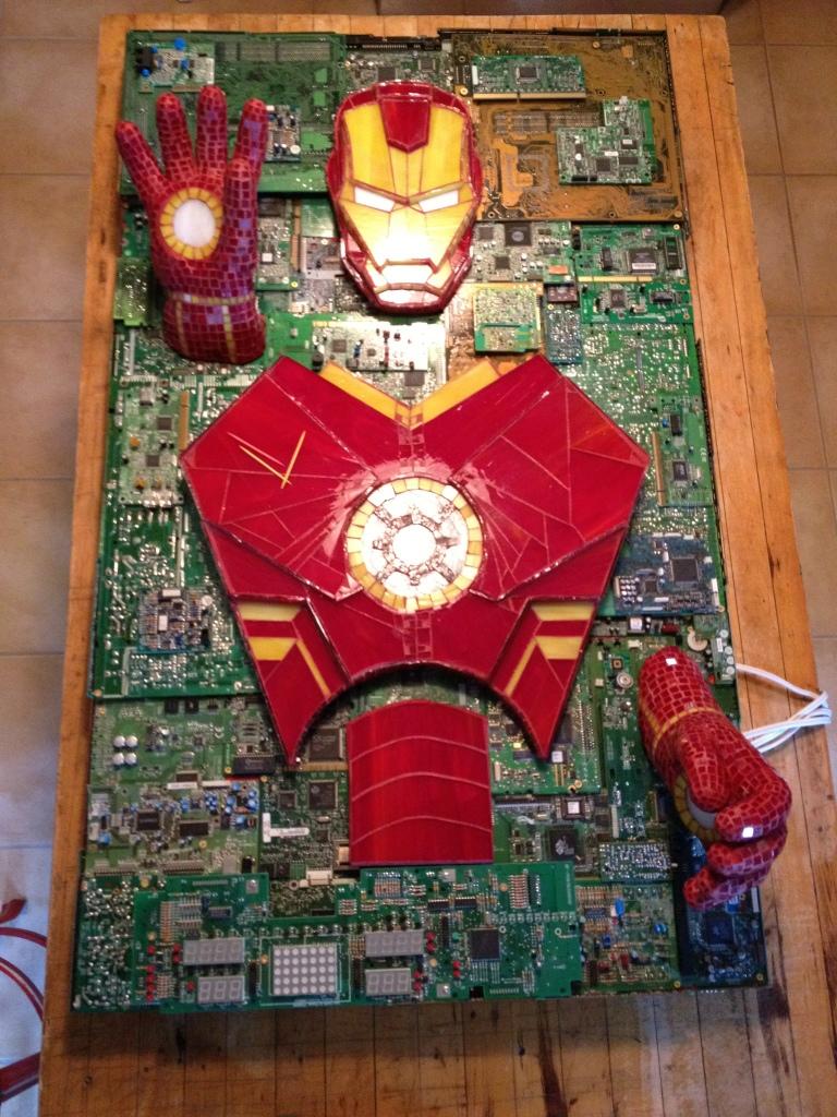 Iron Man Mixed Media Mosaic by kymedicineman
