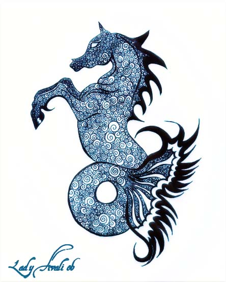 Swirly Seahorse by LadyAvali620
