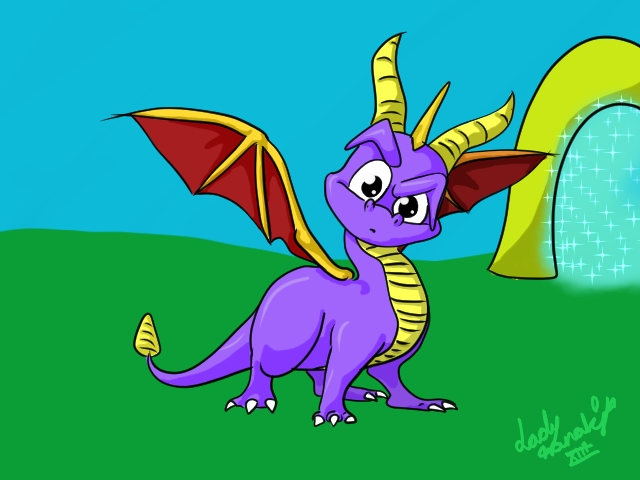 Spyro the dragon by LadyNanaki