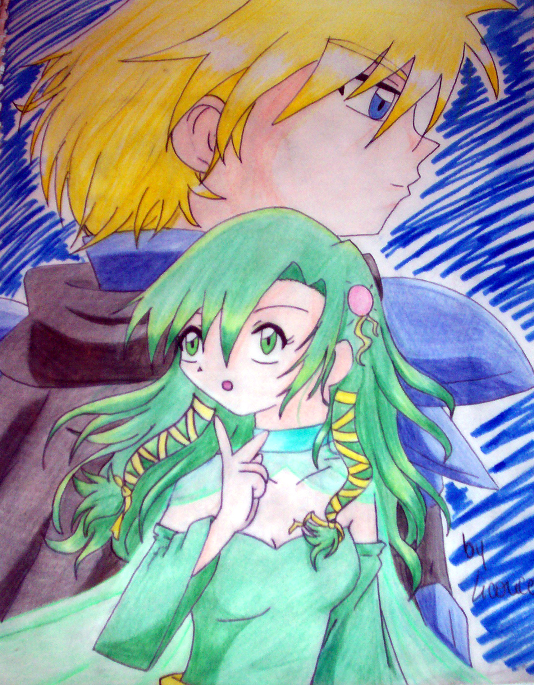rydia and kain by LiCoRiX