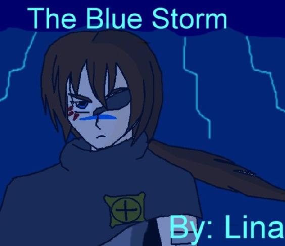 Kaze in a Blue Storm by LinaSan