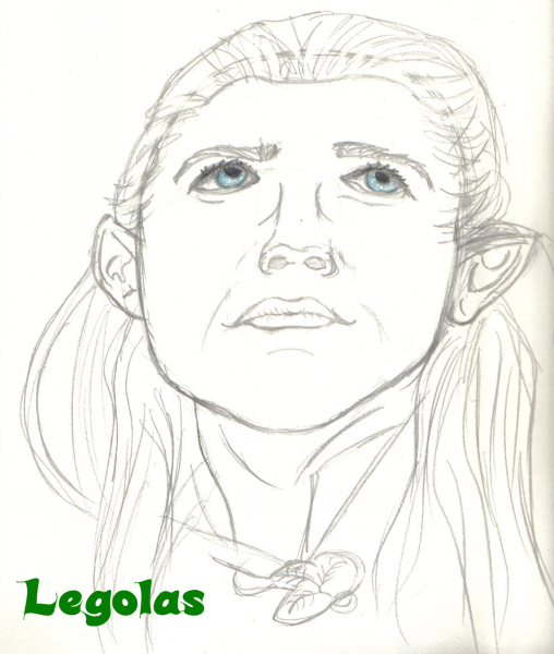 Legolas Sketch by Link_Lover1187