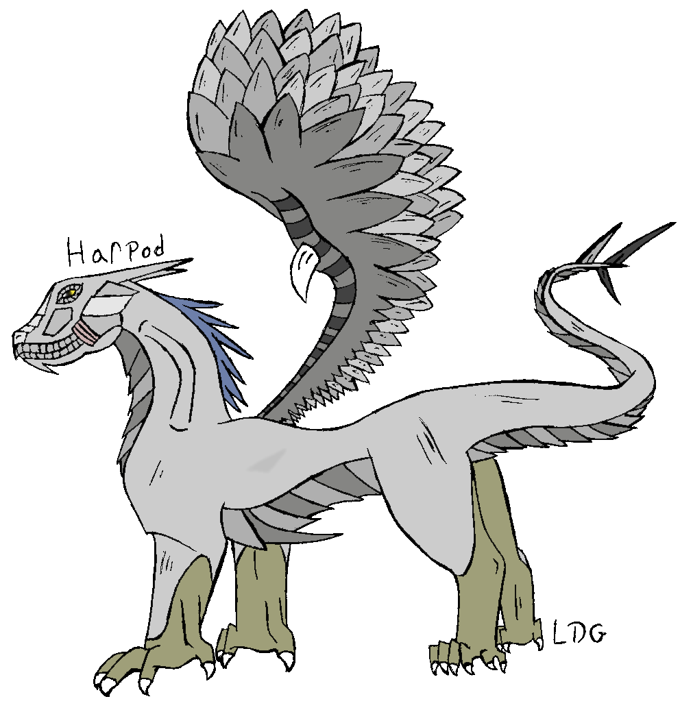 Harpod (adopted from SkyThing) by Living_Dead_Girl