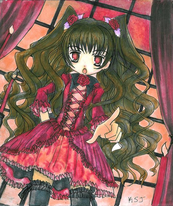 Manga girl by Londoncalling