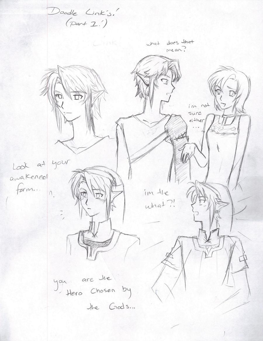 Link Doodles (Part 1) by LordessAnnara14