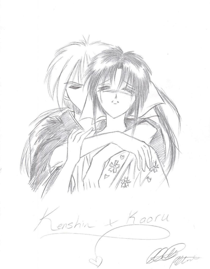 Kenshin and Kaoru by LordessAnnara14