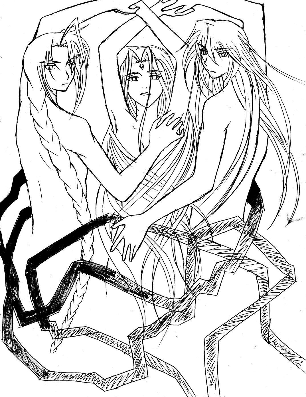 Three ribbons (lining) by LordessAnnara14
