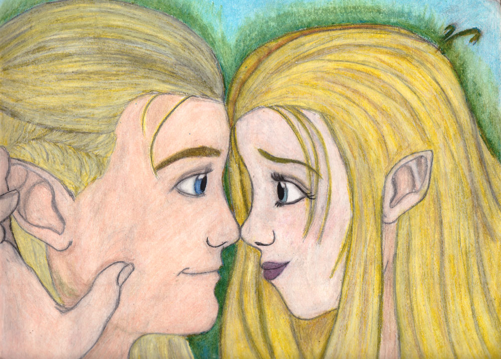 Legolas and Elri by LovesDarkness