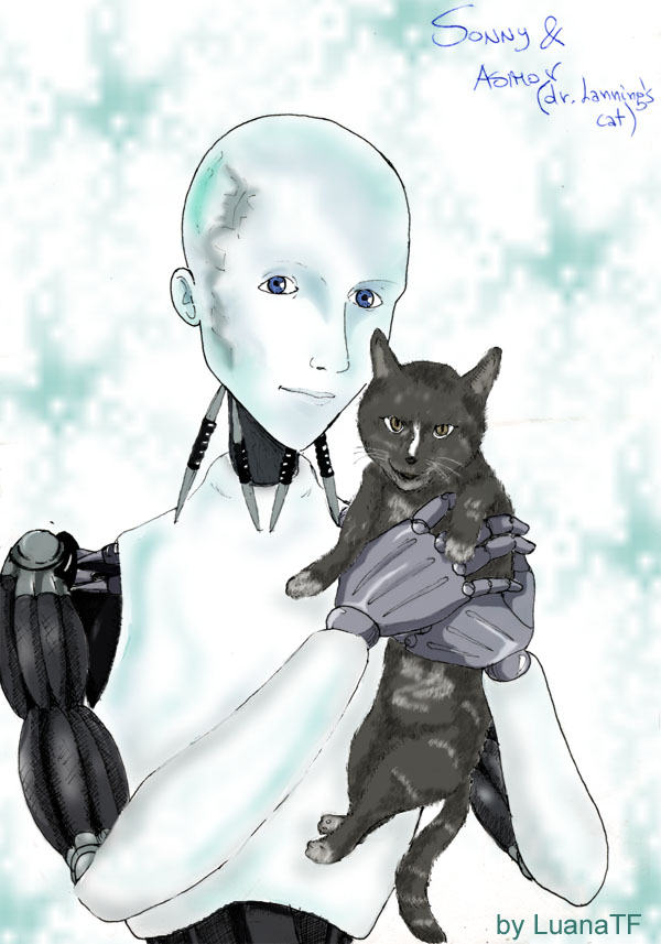 Sonny & Asimov cat  - *request* for Greyhound by LuanaTF