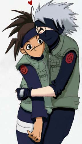 KakaIru hug by lady_chimera25