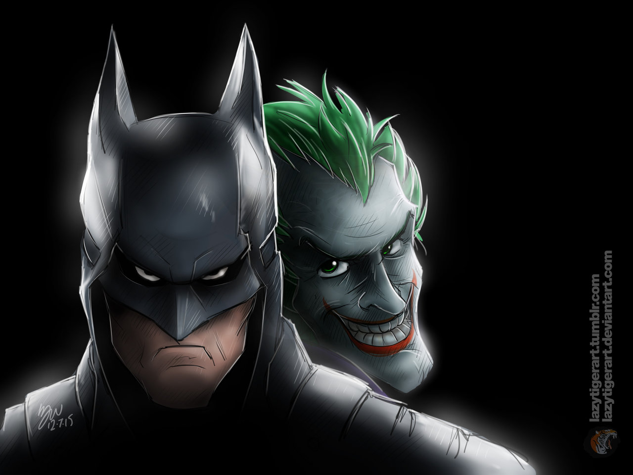 There's a little Joker in all of us by lazytigerart