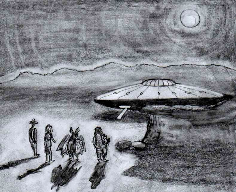 flying saucer scene from roleplay by liggybird