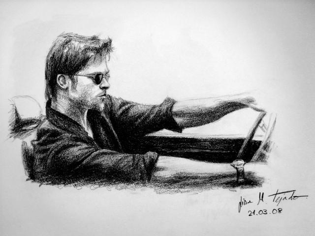 Brad Pitt by lisabailarina