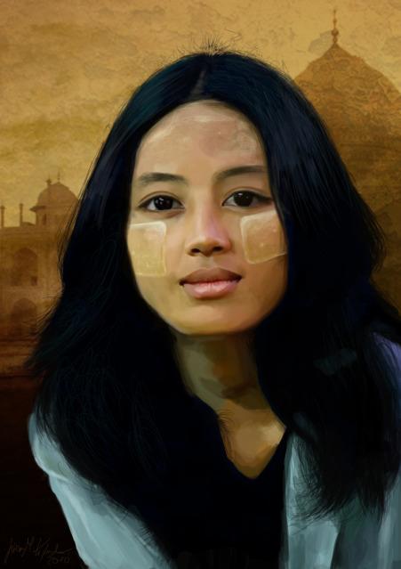 Birmanian Woman by lisabailarina