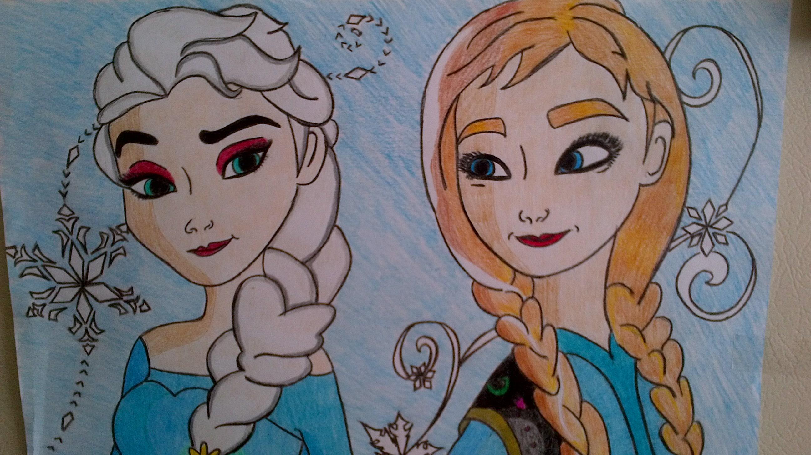 Elsa & Anna: Sisters Forever by luotakulu