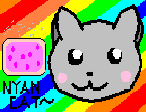 Pixelated Nyan Cat by luotakulu