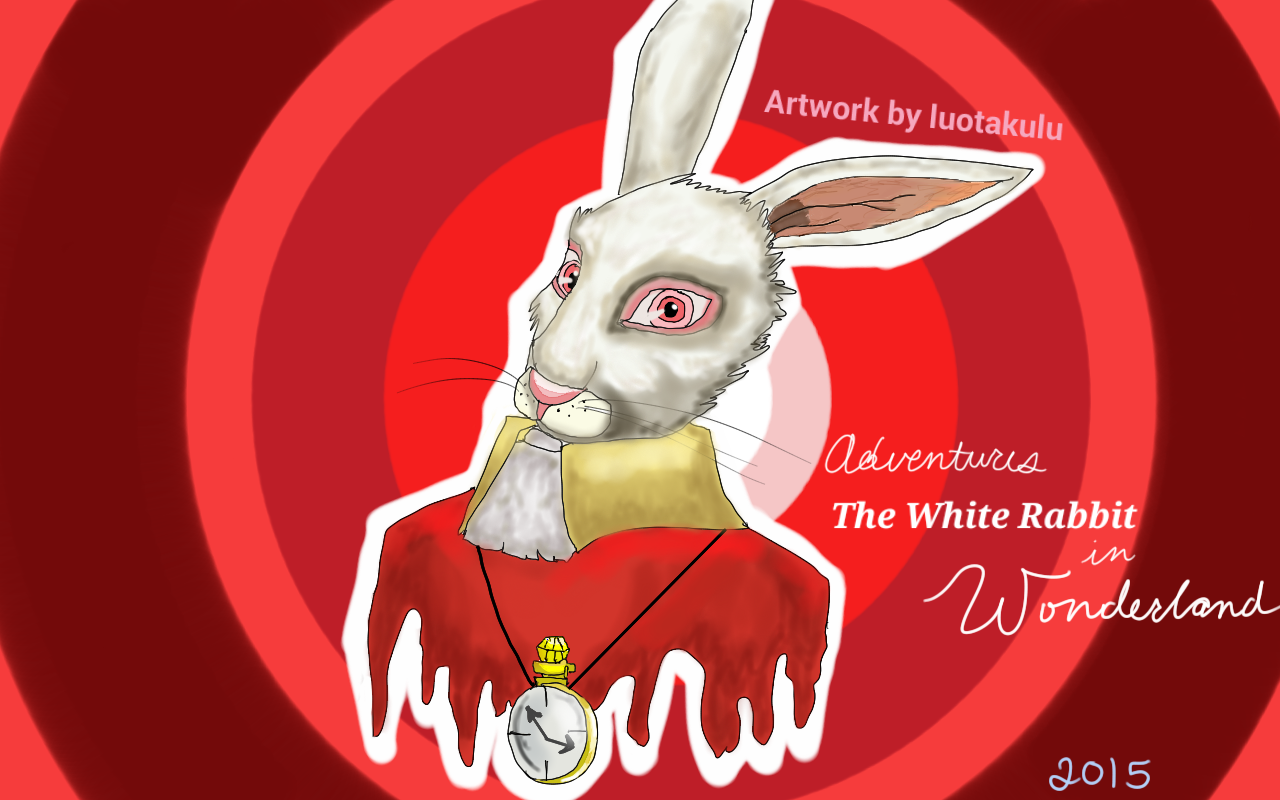 Alice in Wonderland: The White Rabbit by luotakulu