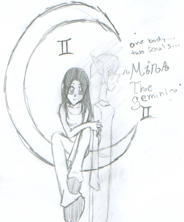 mina the gemini by MINA-CHAN