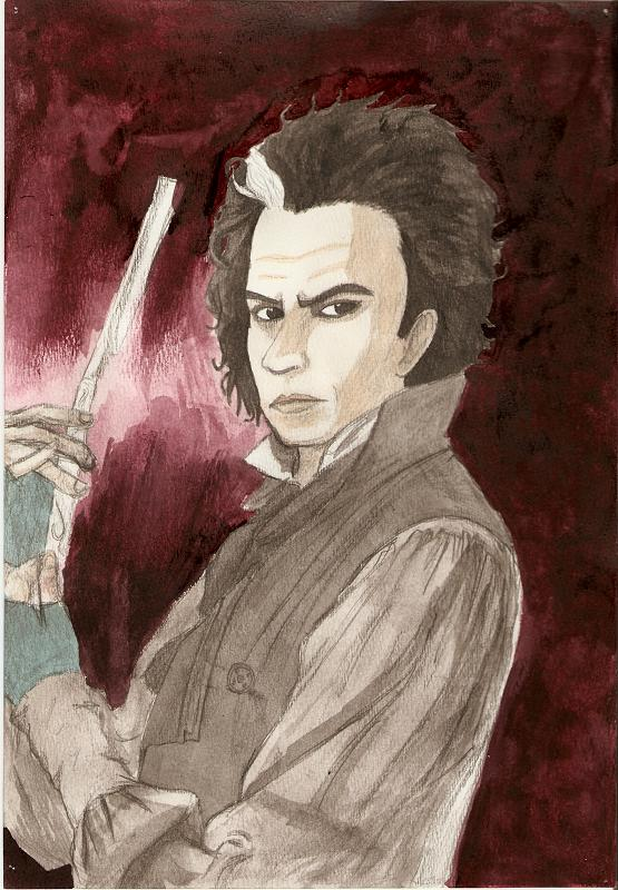 Sweeney Todd Watercolor by MINA-CHAN