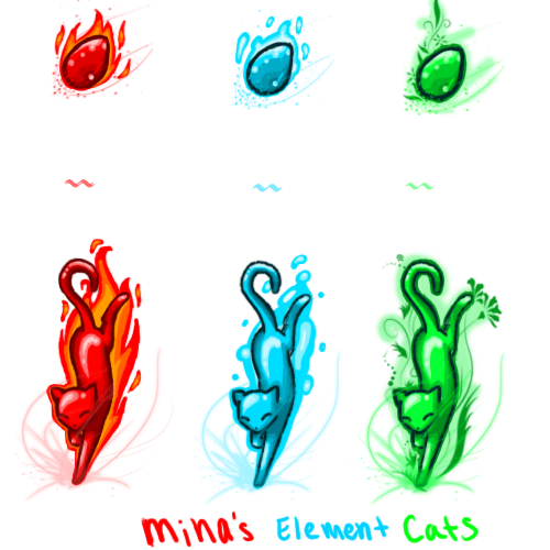 Element Cats by MINA-CHAN