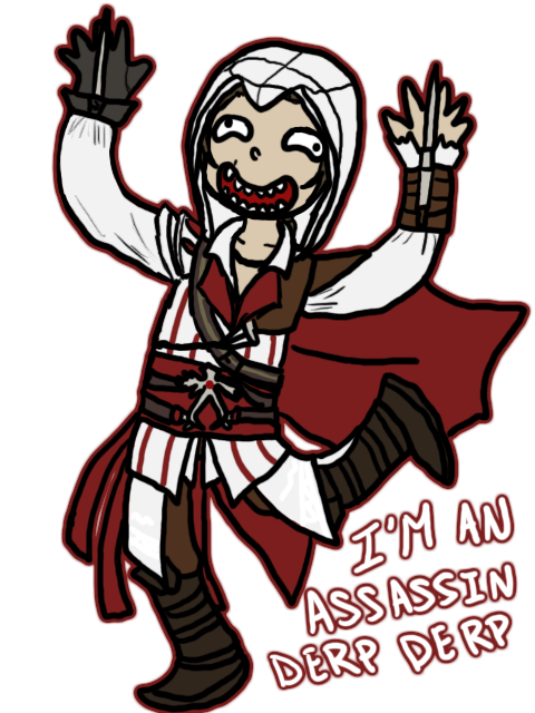 DERP DERP IT'S EZIO by MINA-CHAN