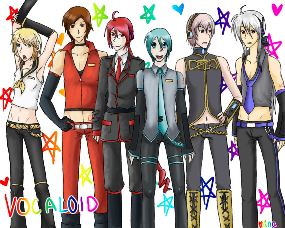 Vocaloid Boys by MINA-CHAN