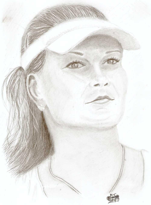 Agnieszka-Radwanska Tennis player by MJWOOD