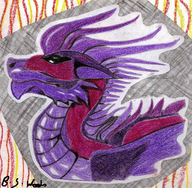 Purple Dragon by MacalaniaMan